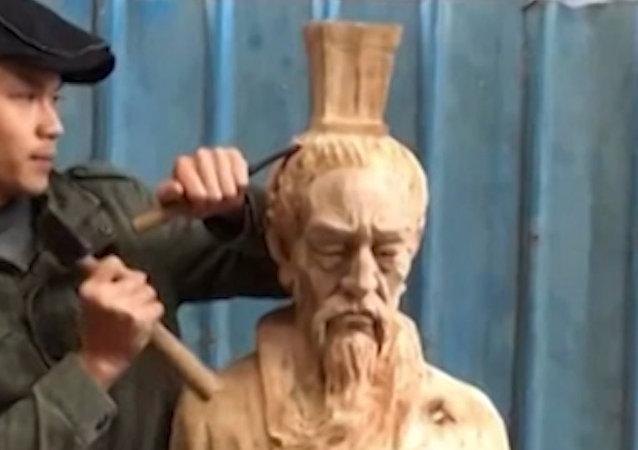 El Geppetto chino que crea obras maestras de madera