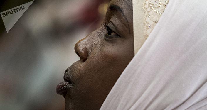 Mame Oumy Mar, de Senegal, durante la cumbre mundial de madres de desaparecidos