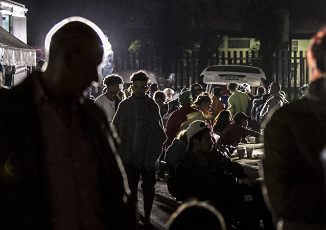Éxodo centroamericano toma la cena ofrecida por el puente humanitario en la Ciudad de México