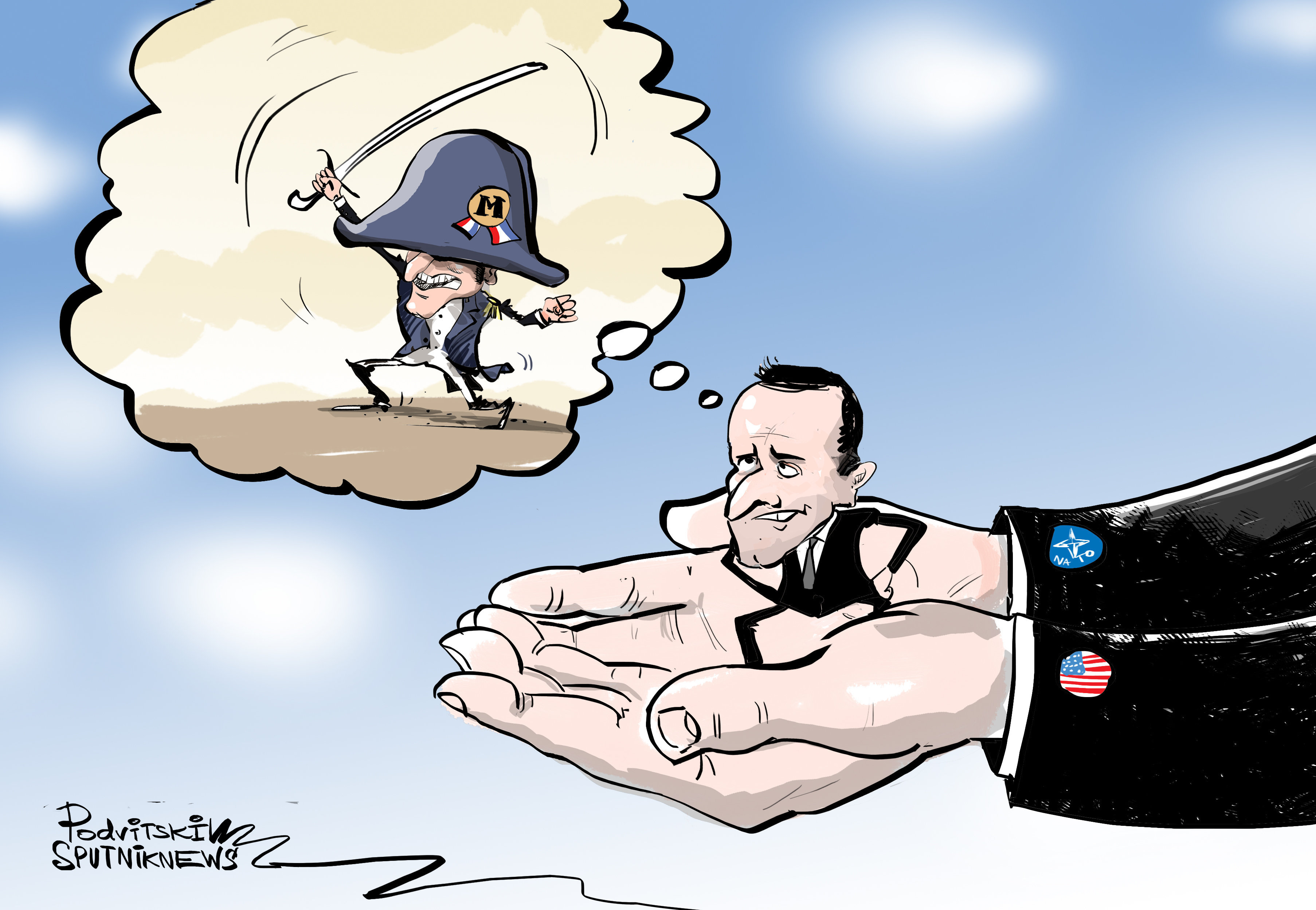 'Napoleón' Macron: el líder francés aboga por la creación de un ejército común europeo