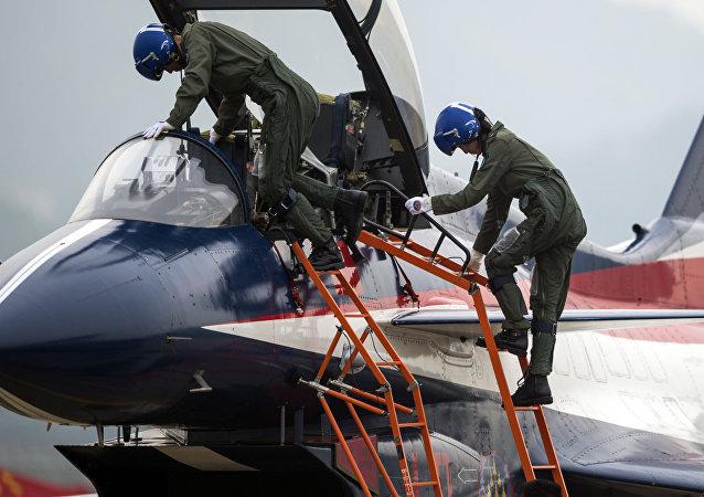 Pilotos militares chinos (archivo)