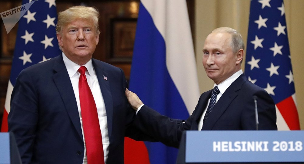 Los presidentes de EEUU, Donald Trump, y Rusia, Vladímir Puti en Helsinki (Finlandia) (archivo)