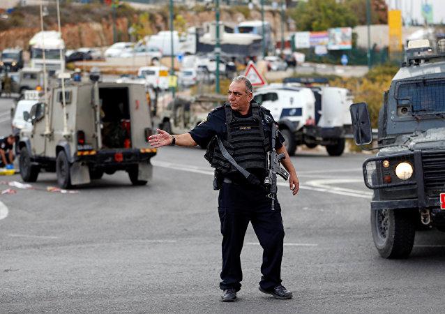 Un policía israelí