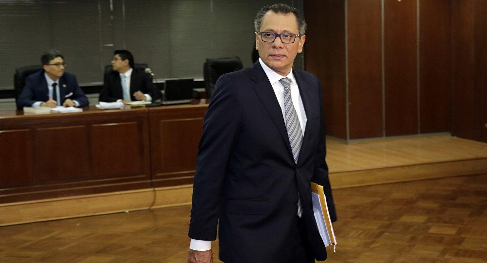 Jorge Glas, el ex vicepresidente de Ecuador