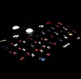 Un teléfono BlackBerry en la oscuridad