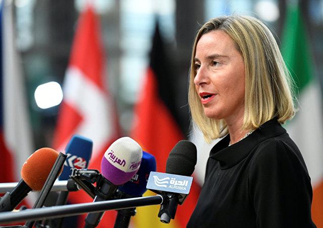 Federica Mogherini, la jefa de la diplomacia europea (archivo)