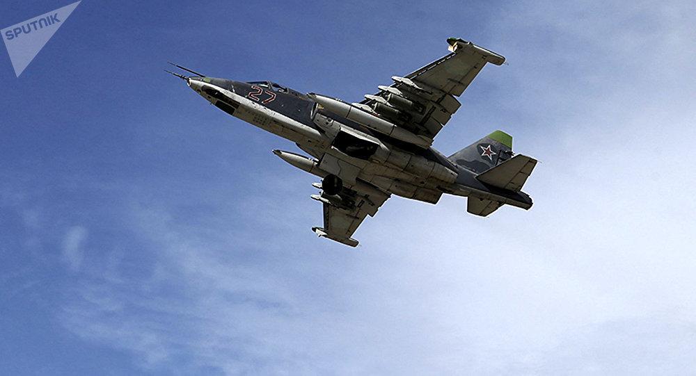 Bombardero Su-25 en Siria
