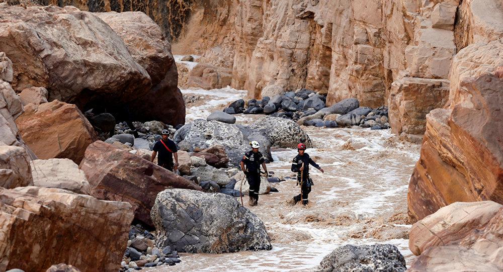 Inundación en Jordania (Archivo)
