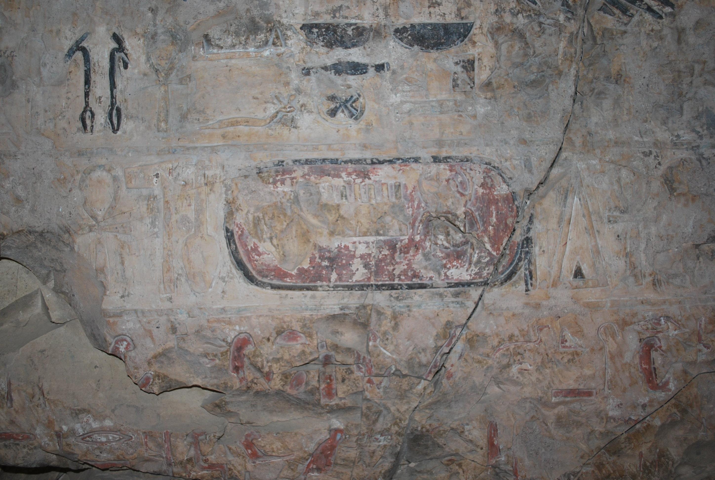 Jeroglífico con el nombre del faraón Tutmosis III.