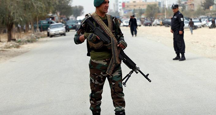 Soldado de las fuerzas de seguridad de Afganistán