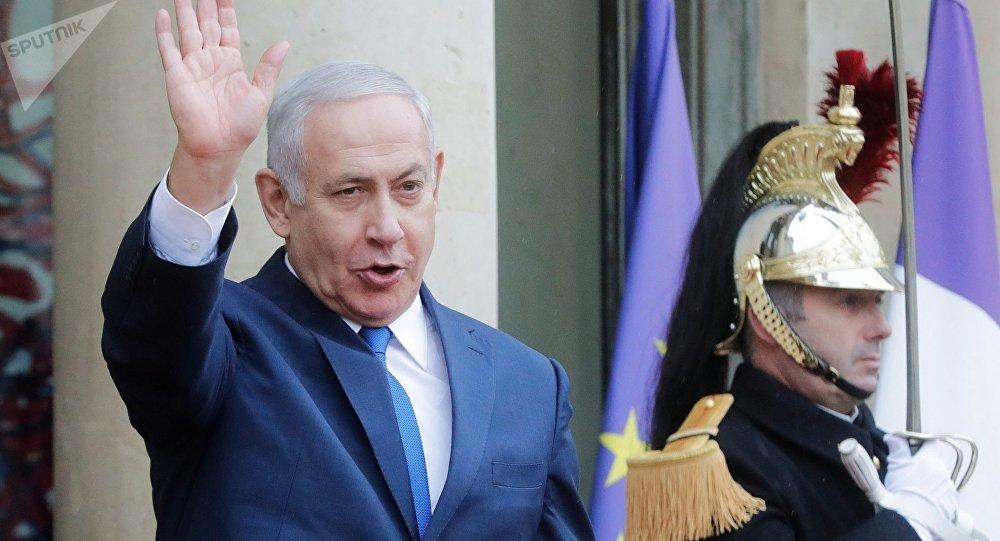 Benjamín Netanyahu, primer ministro de Israel, en París