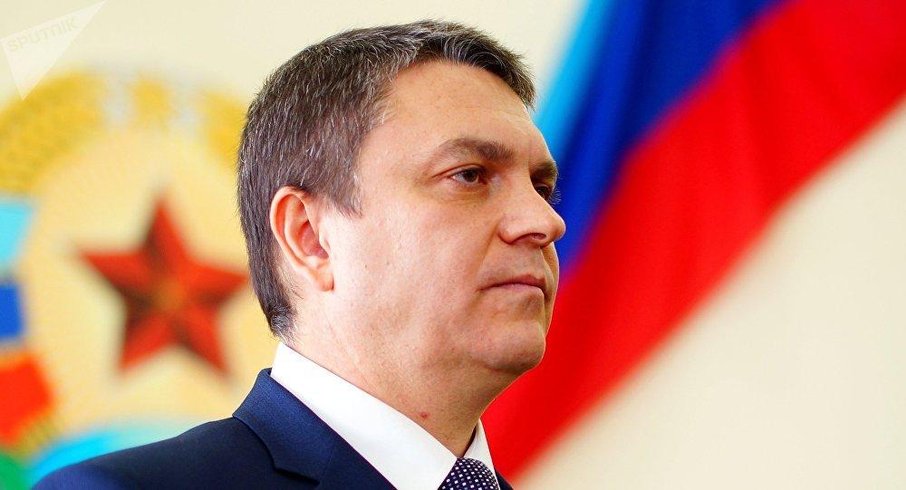 El jefe de la autoproclamada República Popular de Lugansk (RPL), Leonid Pásechnik