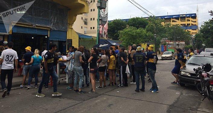 Aficionados en La Boca