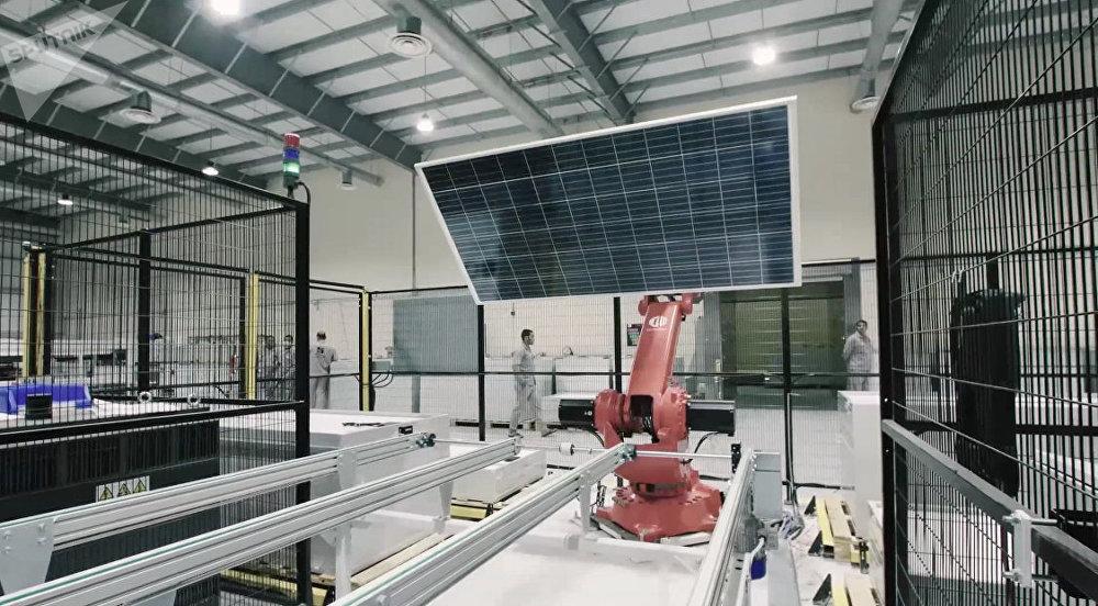Fábrica de paneles solares en Riad