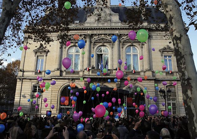 Ceremonia de duelo París en el tercer aniversario de los ataques terroristas del 13 de noviembre de 2015 en París