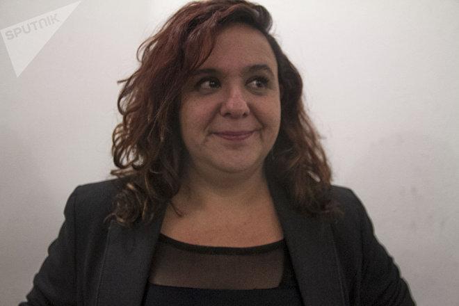 """Marcela Turati coordinadora del proyecto de investigación """"A donde van los desaparecidos"""" durante la presentación del trabajo"""