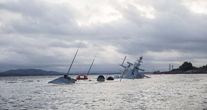 La fragata noruega Helge Ingstad