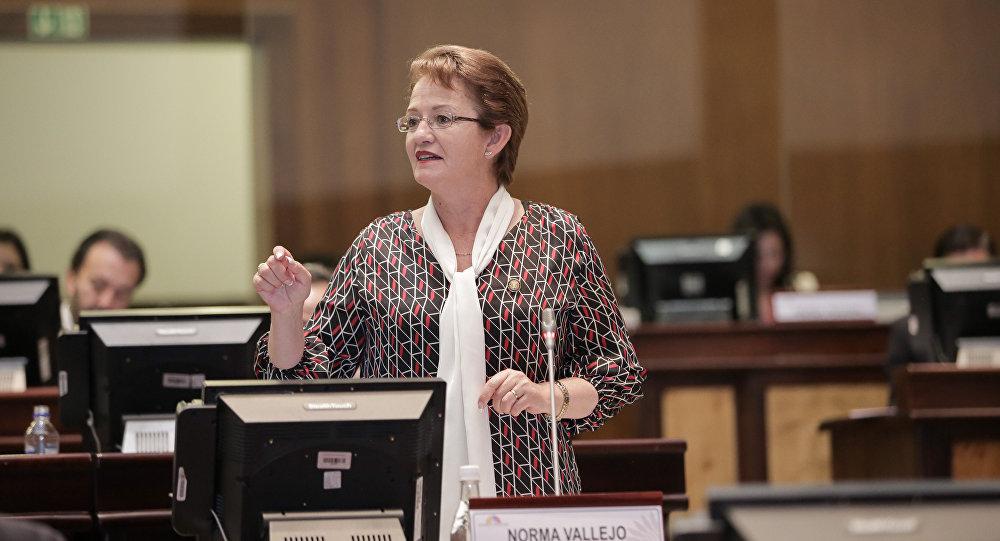 La legisladora ecuatoriana Norma Vallejo