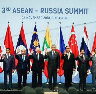 Los jefes de las delegaciones de la cumbre Rusia - ASEAN en Singapur