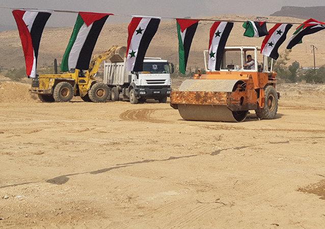 La construcción de la ciudad de los automóviles a las afueras de Damasco