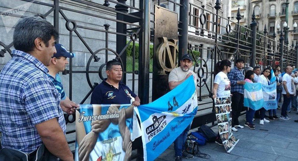 Allegados de las víctimas del submarino San Juan