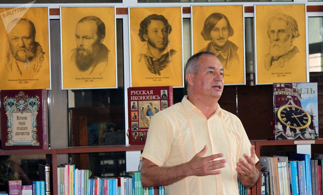 Vladímir Yaroshevski, Primer Secretario de la Embajada de la Federación de Rusia en Cuba, y Representante de Rossotrudnichestvo.
