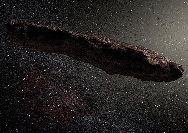El asteroide Oumuamua, imagen ilustrativa