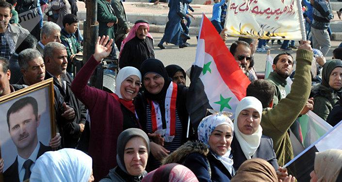 Los habitantes de Deraa celebran su liberación de los terroristas