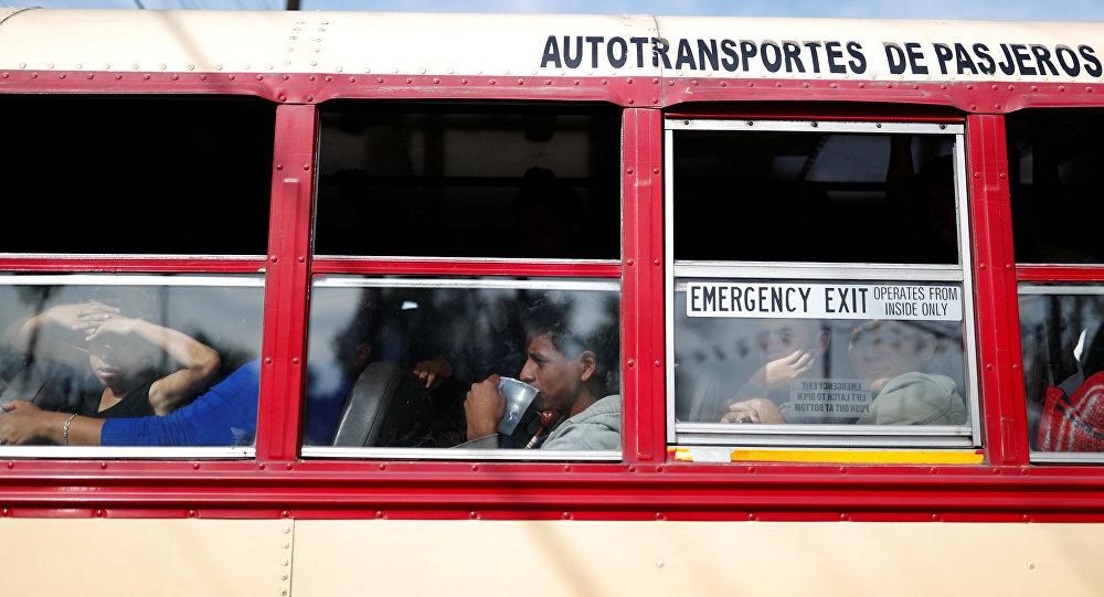 Autobús con migrantes en México (Archivo)