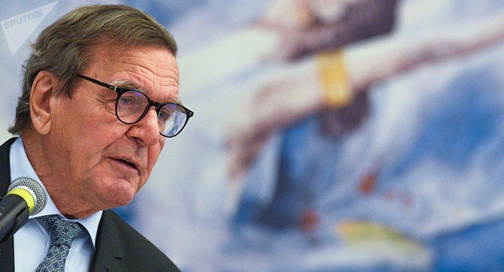 Gerhard Schroeder, excanciller alemán y presidente del comité de accionistas de la compañía Nord Stream AG
