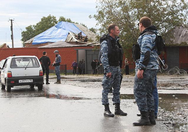 Policías de Chechenia (archivo)