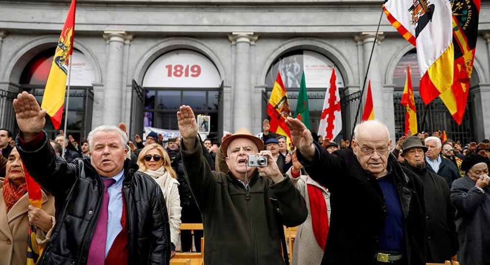 Manifestación en homenaje al dictador Francisco Franco en Madrid (imagen referencial)