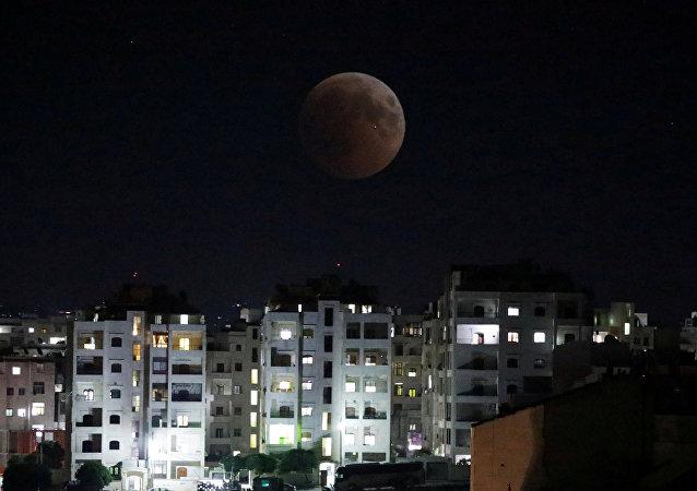 La noche en Idlib sirio