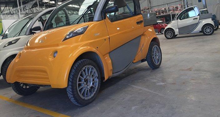Un modelo de los autos eléctricos Sero Electric