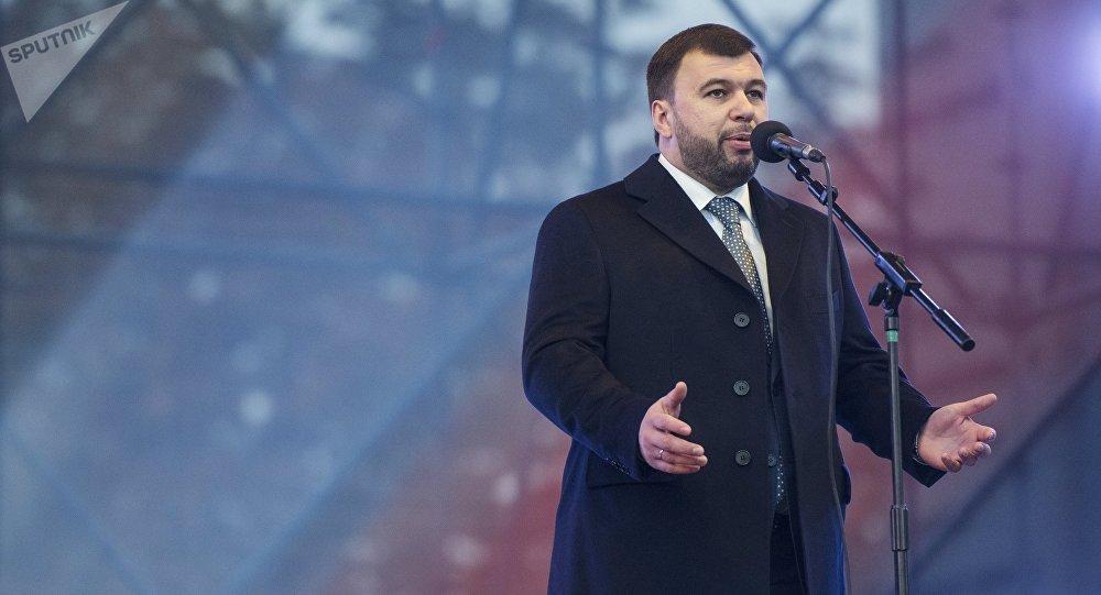 Denís Pushilin, líder electo de la autoproclamada República Popular de Donetsk (RPD)
