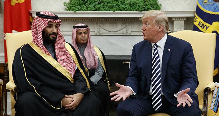 El presidente de EEUU, Donald Trump y el príncipe heredero de Arabia Saudí, Mohammed bin Salman