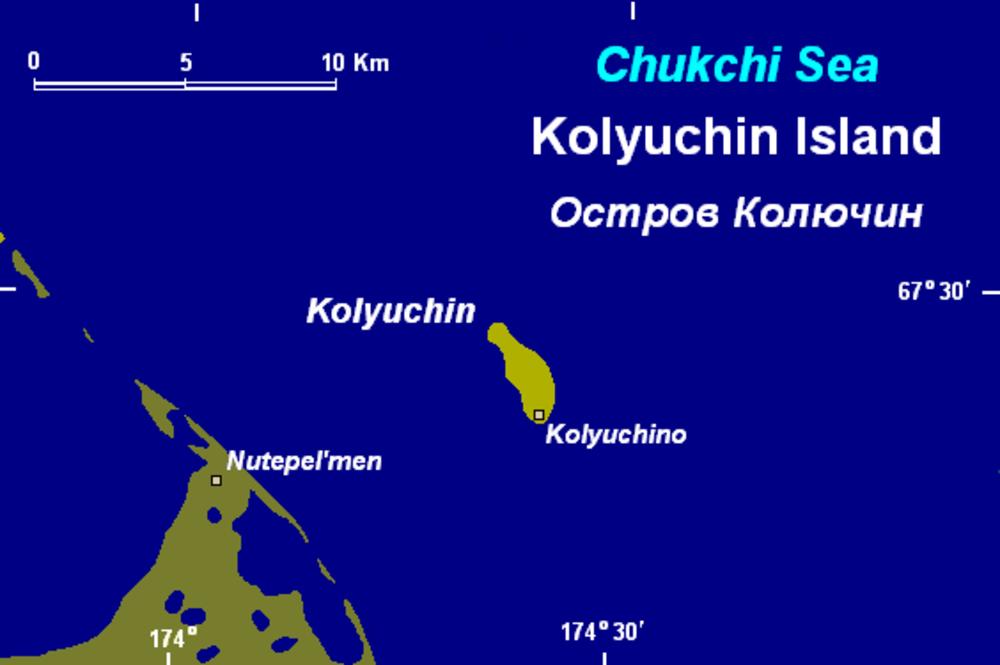 La isla de Koluchin en el mar de Chukchi