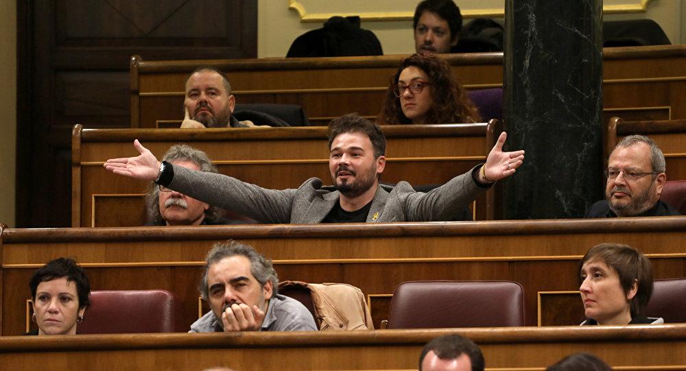 Gabriel Rufián, diputado independista de Esquerra Republicana de Cataluña