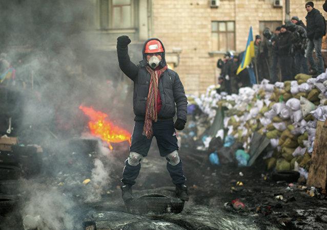 Representante de la oposición en Kiev, Ucrania (archivo)