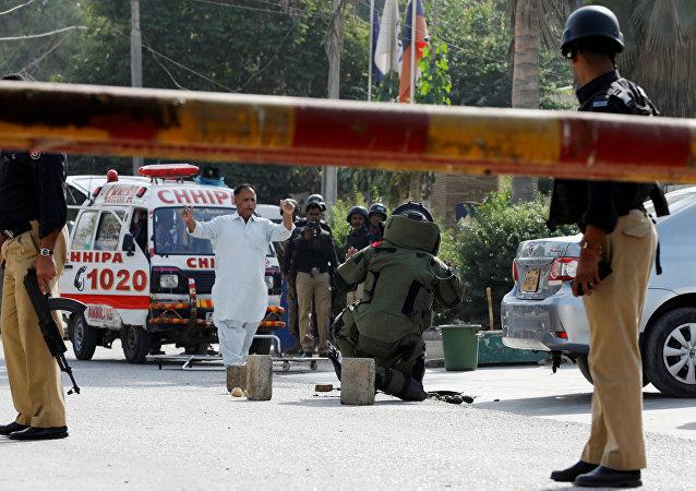 Situación tras el atentado al Consulado general de China en Karachi, Pakistán
