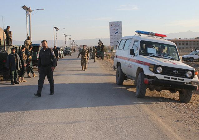 Una ambulancia en la provincia de Khost, afganistán