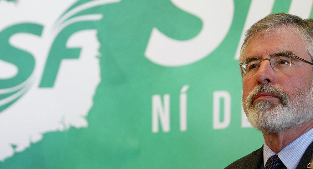 Gerry Adams, exlíder del partido Sinn Féin