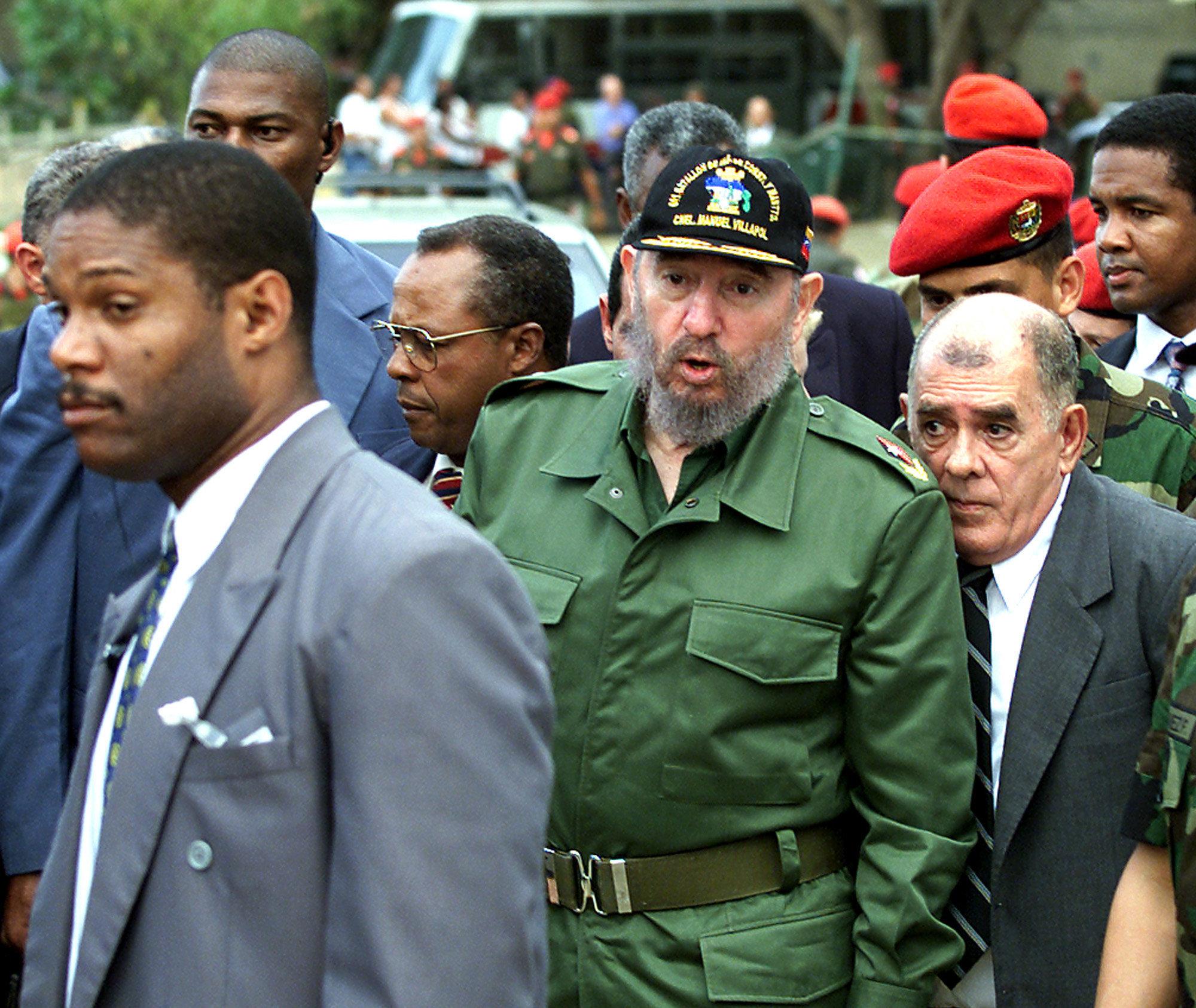 Fidel Castro visita Venezuela