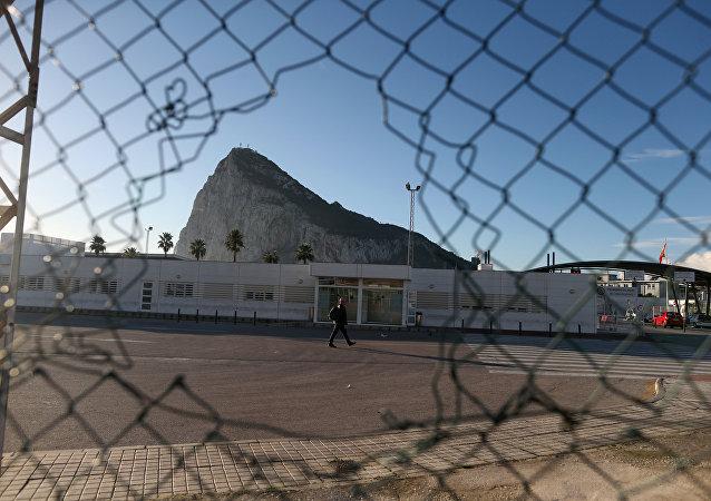 La vista del peñón de Gibraltar