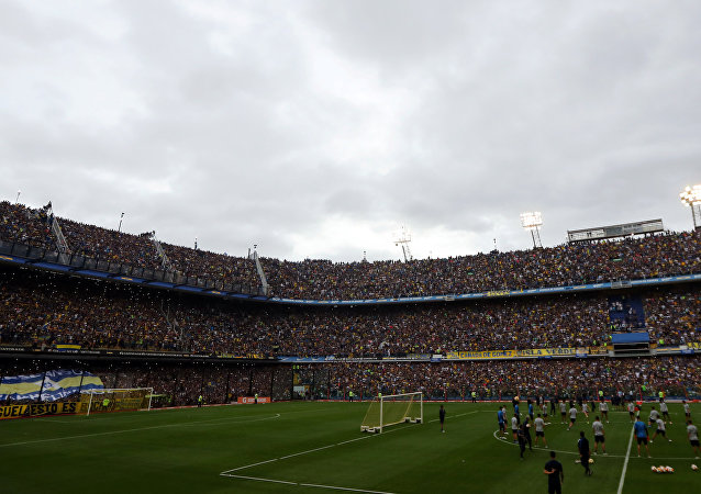 Los jugadores de Boca Juniors