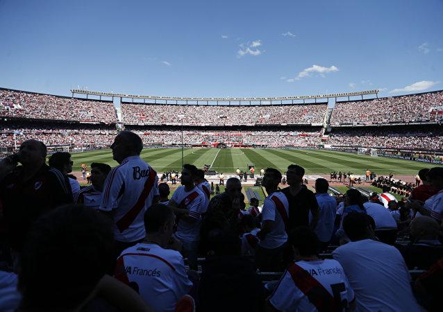 El estadio de Antonio Vespucio Liberti en Buenos Aires, Argentina