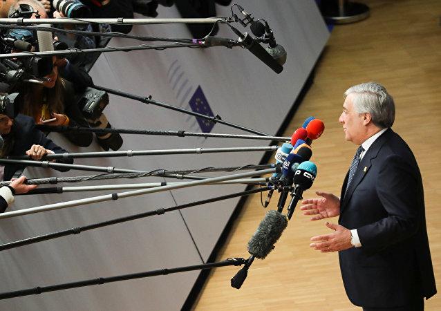 Antonio Tajani, el presidente del Parlamento europeo
