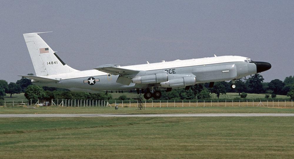 Un avión de reconocimiento radioelectrónico Boeing RC-135V