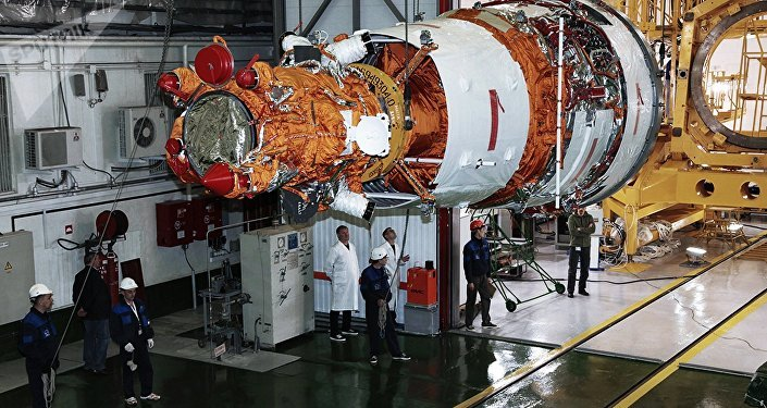 Un satélite Resurs-P (archivo)