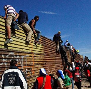 Los migrantes centroamericanos en la frontera de México con EEUU